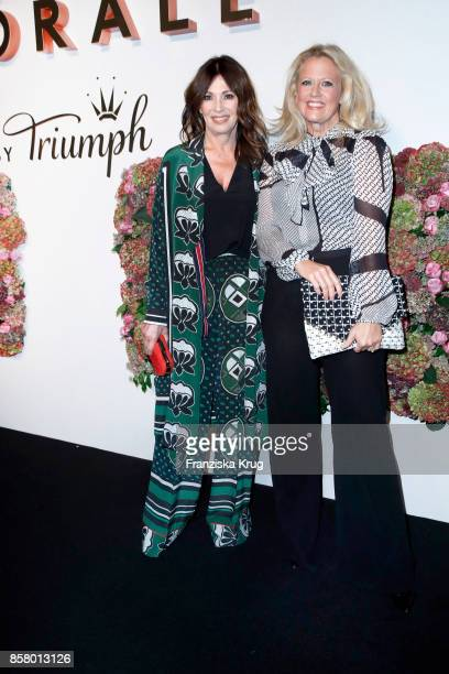 German actress Iris Berben and german presenter Barbara Schoeneberger attend the Florale By Triumph Dinner Hosted By Julianne Moore at Altes...