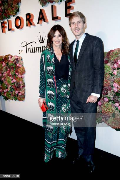 German actress Iris Berben and owner Roman Braun attend the Florale By Triumph Dinner Hosted By Julianne Moore at Altes Stadthaus on October 5 2017...