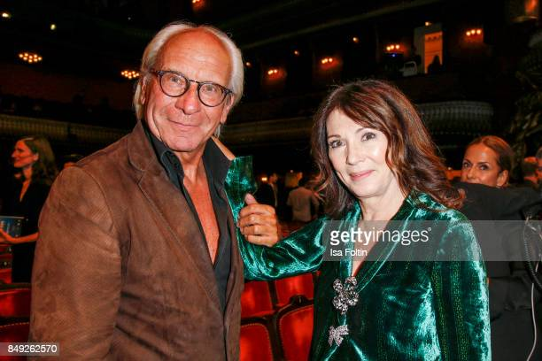 German actress Iris Berben and Wolf Bauer director and CEO UFA attend the First Steps Awards 2017 at Stage Theater on September 18 2017 in Berlin...