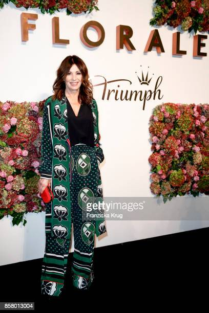 German actress Iris Berben attends the Florale By Triumph Dinner Hosted By Julianne Moore at Altes Stadthaus on October 5 2017 in Berlin Germany