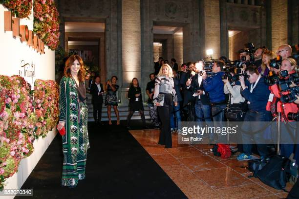 German actress Iris Berben attends the Florale By Triumph Dinner Hosted By Julianne Moore Dinner at Altes Stadthaus on October 5 2017 in Berlin...
