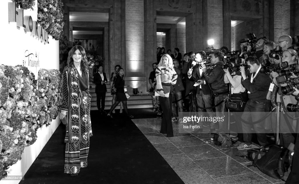 German actress Iris Berben attends the Florale By Triumph Dinner Hosted By Julianne Moore Dinner at Altes Stadthaus on October 5, 2017 in Berlin, Germany.