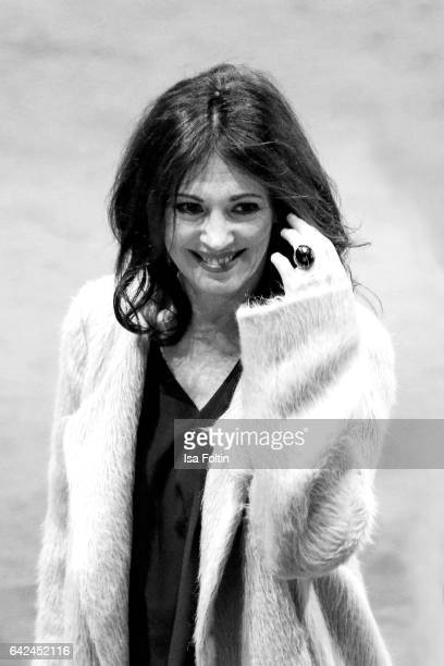 German actress Iris Berben attends the 'Logan' premiere during the 67th Berlinale International Film Festival Berlin at Berlinale Palace on February...