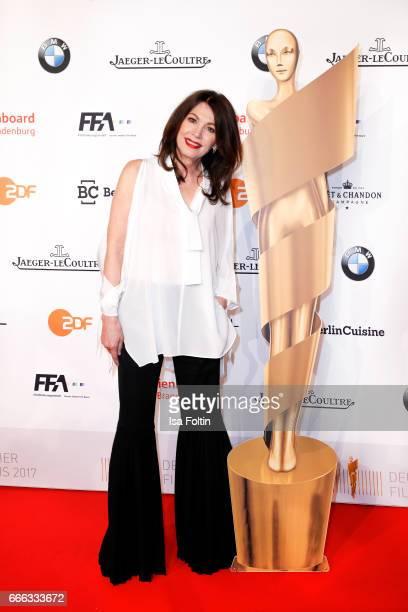 German actress Iris Berben attends the nominee dinner for the German Film Award 2017 Lola at BMW Niederlassung Berlin on April 8 2017 in Berlin...
