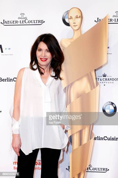 German actress Iris Berben attends the nominee dinner for the German Film Award 2017 Lola at BMW Niederlassung Berlin on April 8 2017 in Berlin...