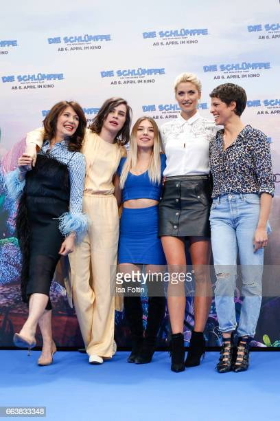 German actress Iris Berben german actress Nora Tschirner youtubestar Bianca Heinicke alias Bibi model Lena Gercke and german actress Jasmin Gerat...