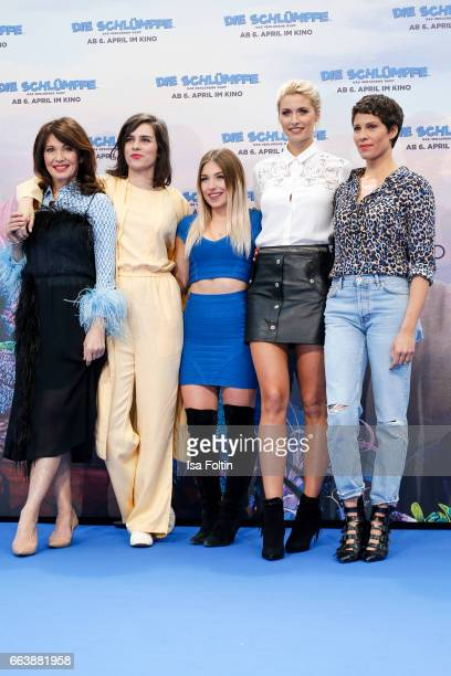 German actress Iris Berben german actress Nora Tschirner youtubestar and influencer Bianca Heinicke alias Bibi model Lena Gercke and german actress...