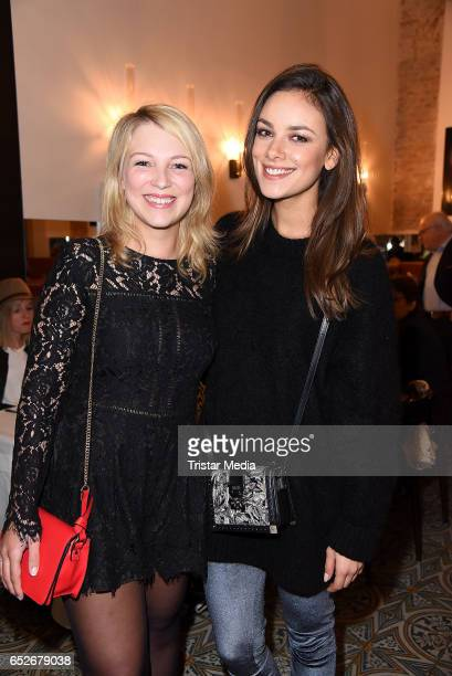 German actress Iris Mareike Steen and german actress Janina Uhse attend the Private Soul Foods Presents Max Mutzke at Restaurant Centolire on March...