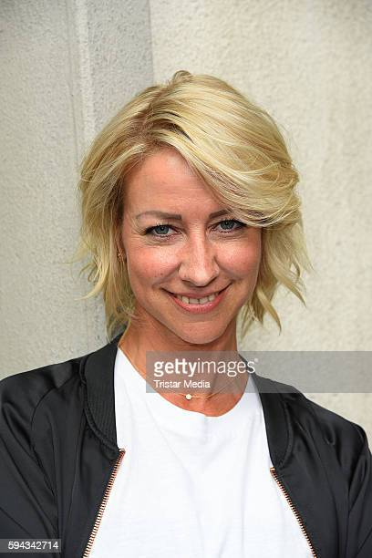 German actress Isabell Hertel during the Daily Soap 'Unter uns' Summer Event Fan Meeting on August 22 2016 in Cologne Germany