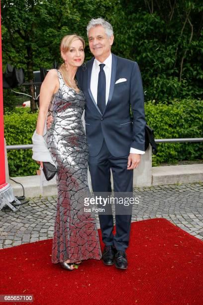 German actress Isabella Huebner and guest attend the Bayerischer Fernsehpreis 2017 at Prinzregententheater on May 19 2017 in Munich Germany