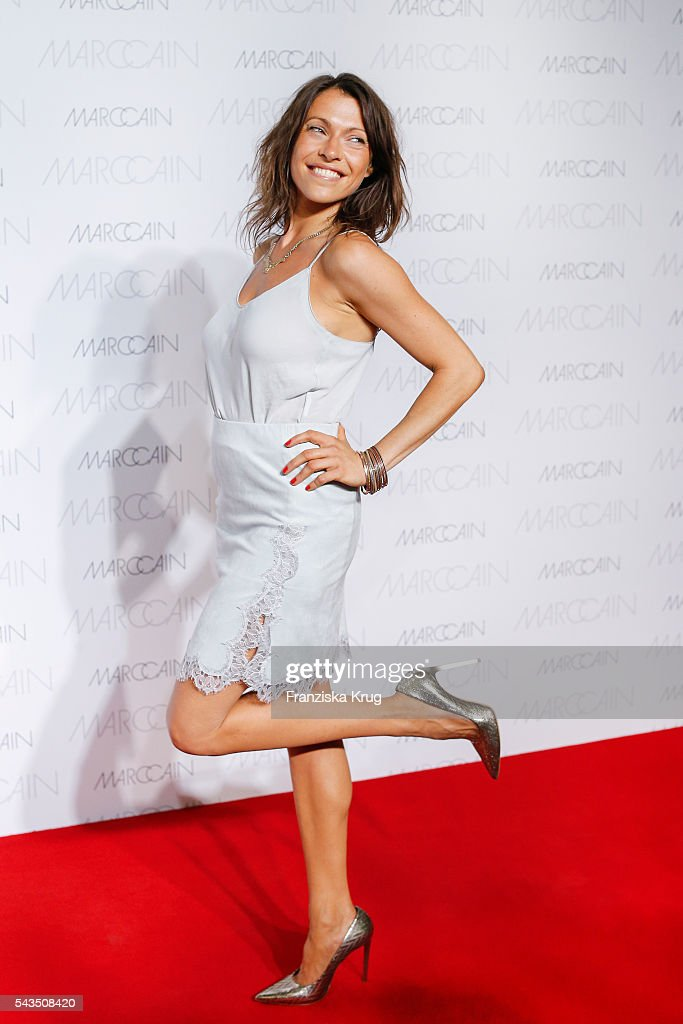 German actress <a gi-track='captionPersonalityLinkClicked' href=/galleries/search?phrase=Jana+Pallaske&family=editorial&specificpeople=2106638 ng-click='$event.stopPropagation()'>Jana Pallaske</a> attends the Marc Cain fashion show spring/summer 2017 at CITY CUBE Panorama Bar on June 28, 2016 in Berlin, Germany.