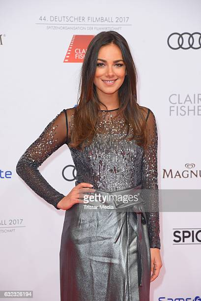 German actress Janina Uhse attends the German Film Ball 2017 at Hotel Bayerischer Hof on January 21 2017 in Munich Germany