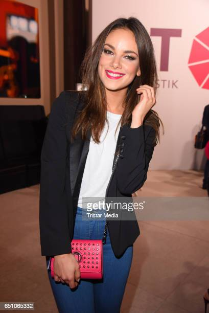 German actress Janina Uhse attends the JT Touristik Pink Carpet party at Hotel De Rome on March 9 2017 in Berlin Germany