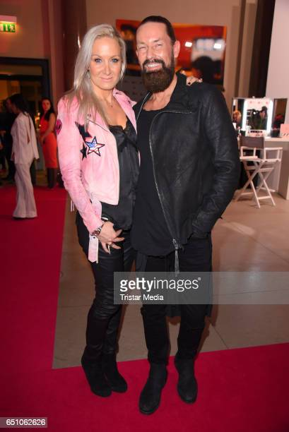 German actress Janine Kunze and her husband Dirk Budach attend the JT Touristik Pink Carpet party at Hotel De Rome on March 9 2017 in Berlin Germany