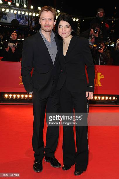 German actress Jasmin Tabatabai and her partner Andreas Pietschmann attend the 'The Future' Premiere during day six of the 61st Berlin International...