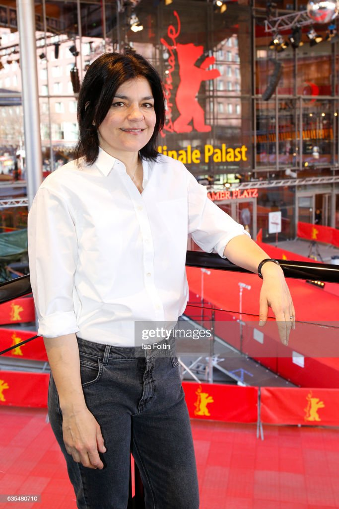 German actress Jasmin Tabatabai during the 'Berlinale Open House Talk' during Audi At The 67th Berlinale International Film Festival on February 15, 2017 in Berlin, Germany.