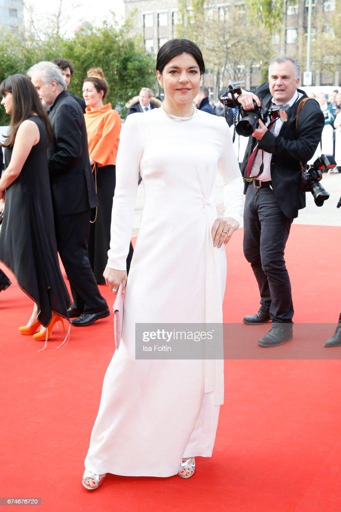 German actress Jasmin Tabatabai during the Lola - German Film Award red carpet arrivals at Messe Berlin on April 28, 2017 in Berlin, Germany.