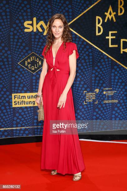 German actress Jeanette Hain attends the 'Babylon Berlin' Premiere at Berlin Ensemble on September 28 2017 in Berlin Germany