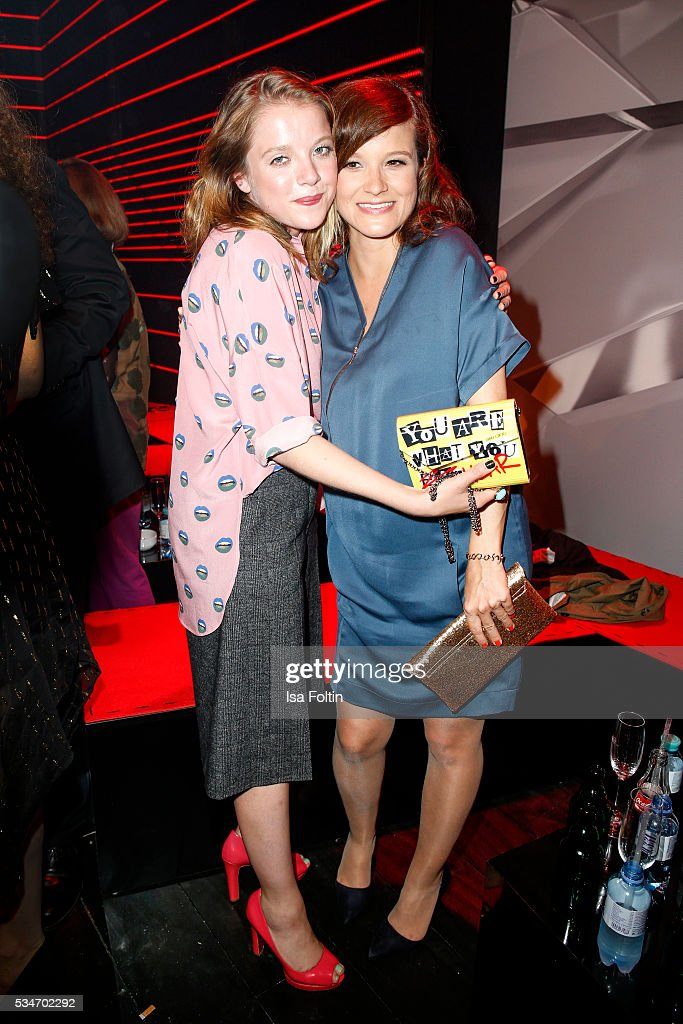 German actress Jella Haase and producer Lena Schoemann attend the New Faces Award Film 2016 at ewerk on May 26, 2016 in Berlin, Germany.
