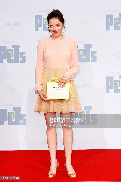 German actress Jella Haase attends the premiere of the film 'PETS' at CineStar on July 20 2016 in Berlin Germany