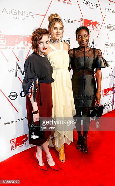 German actress Jella Haase model Stefanie Giesinger and Nikeata Thompson attend New Faces Award Style on November 16 2016 in Berlin Germany