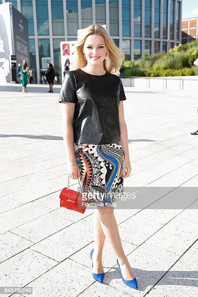 German actress Jennifer Ulrich attends the Marc Cain show spring/summer 2017 at CITY CUBE Panorama Bar on June 28 2016 in Berlin Germany