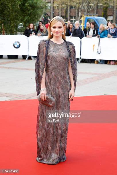 German actress Jennifer Ulrich during the Lola German Film Award red carpet arrivals at Messe Berlin on April 28 2017 in Berlin Germany