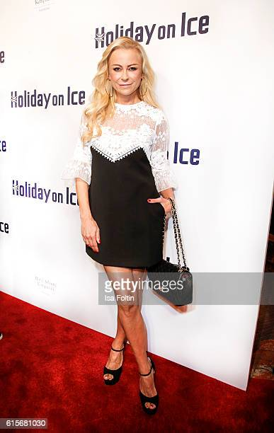 German actress Jenny Elvers attends the 'Holiday on Ice' gala at Hotel Atlantic on October 19 2016 in Hamburg Germany