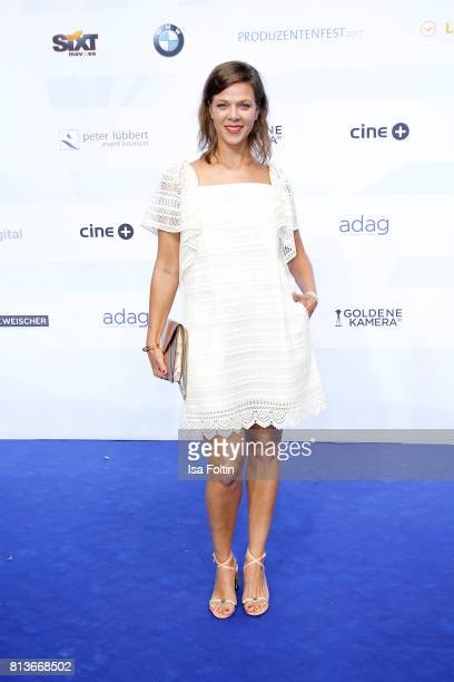German actress Jessica Schwarz attends the summer party 2017 of the German Producers Alliance on July 12 2017 in Berlin Germany