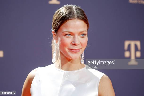 German actress Jessica Schwarz attends the UFA 100th anniversary celebration at Palais am Funkturm on September 15 2017 in Berlin Germany