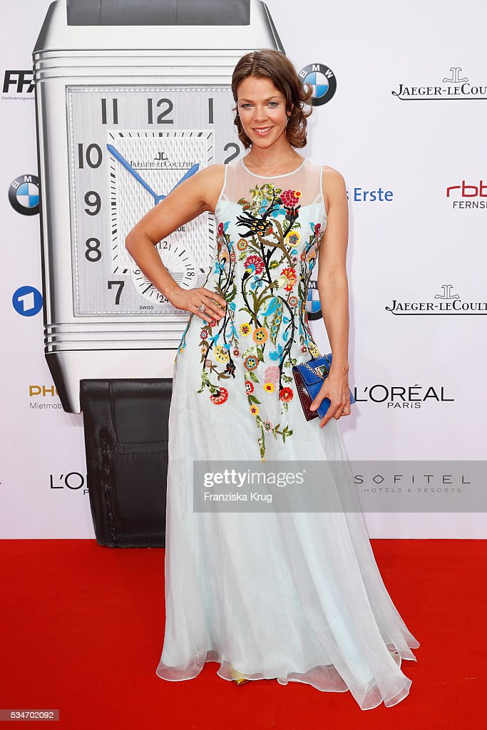 German actress <a gi-track='captionPersonalityLinkClicked' href=/galleries/search?phrase=Jessica+Schwarz&family=editorial&specificpeople=212905 ng-click='$event.stopPropagation()'>Jessica Schwarz</a> during the Lola German Film Award (Deutscher Filmpreis) 2016 on May 27, 2016 in Berlin, Germany.