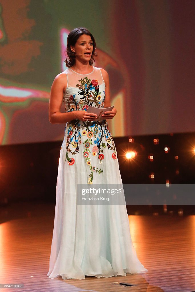 German actress <a gi-track='captionPersonalityLinkClicked' href=/galleries/search?phrase=Jessica+Schwarz&family=editorial&specificpeople=212905 ng-click='$event.stopPropagation()'>Jessica Schwarz</a> during the Lola - German Film Award (Deutscher Filmpreis) 2016 - Show on May 27, 2016 in Berlin, Germany.