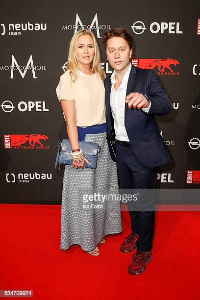 German actress Judith Hoersch and Adrian Topol attends the New Faces Award Film 2016 at ewerk on May 26 2016 in Berlin Germany