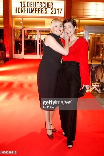 German actress Judith Hoersch and german actress Julia Bremermann arrive at the Deutscher Hoerfilmpreis at Kino International on March 21 2017 in...