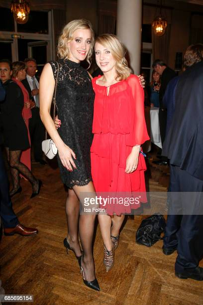 German actress Judith Richter and Marisa Leonie Bach during the Bayerischer Fernsehpreis 2017 at Prinzregententheater on May 19 2017 in Munich Germany