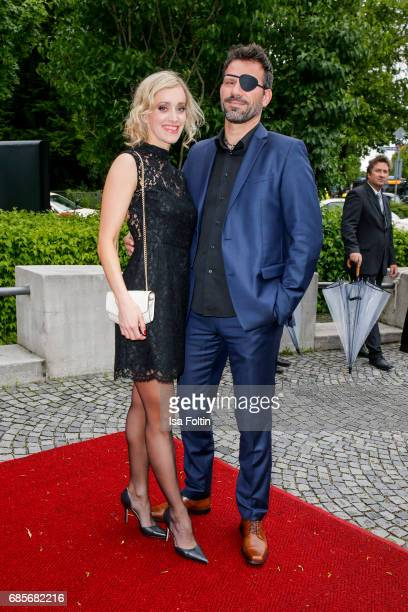 German actress Judith Richter and Oliver Lang attend the Bayerischer Fernsehpreis 2017 at Prinzregententheater on May 19 2017 in Munich Germany