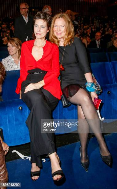 German actress Julia Bremermann and german actress Marion Kracht attend the Deutscher Hoerfilmpreis at Kino International on March 21 2017 in Berlin...