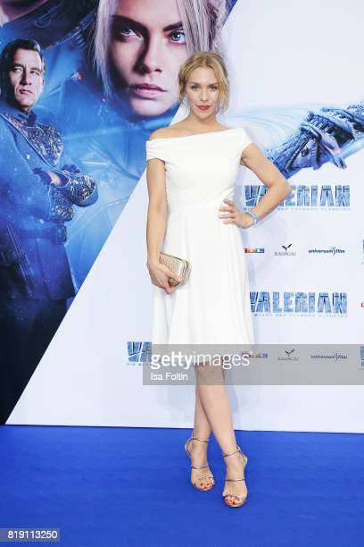 German actress Julia Dietze during the 'Valerian Die Stadt der Tausend Planeten' premiere at CineStar on July 19 2017 in Berlin Germany