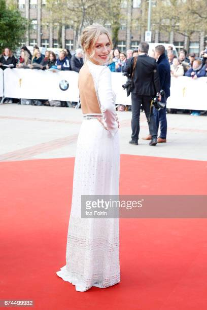 German actress Julia Dietze wearing a dress by HM during the Lola German Film Award red carpet arrivals at Messe Berlin on April 28 2017 in Berlin...