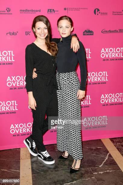 German actress Julia Hartmann and Swiss actress Jasna Fritzi Bauer attend the 'Axolotl Overkill' Berlin Premiere at Volksbuehne RosaLuxemburgPlatz on...