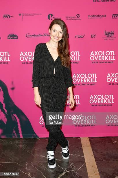 German actress Julia Hartmann attends the 'Axolotl Overkill' Berlin Premiere at Volksbuehne RosaLuxemburgPlatz on June 21 2017 in Berlin Germany