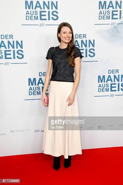 German actress Julia Hartmann attends the premiere of 'Der Mann aus dem Eis' at Zoo Palast on November 21 2017 in Berlin Germany