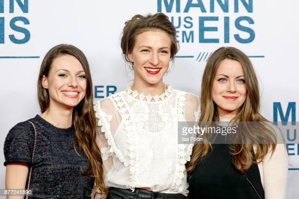 German actress Julia Hartmann German actress Natalia Belitski and German actress Alice Dwyer attend the premiere of 'Der Mann aus dem Eis' at Zoo...
