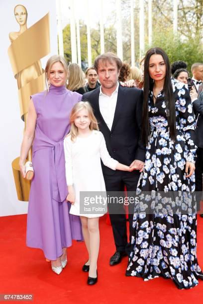 German actress Julia Jentsch Emilia Pieske german actor Bjarne Maedel and director Anne Zohra Berrached during the Lola German Film Award red carpet...