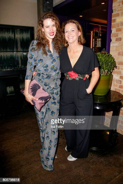 German actress Julia Malik and artist Jenny Falckenberg during the host of Annabelle Mandengs Ladies Dinner at Hotel Zoo on July 2 2017 in Berlin...