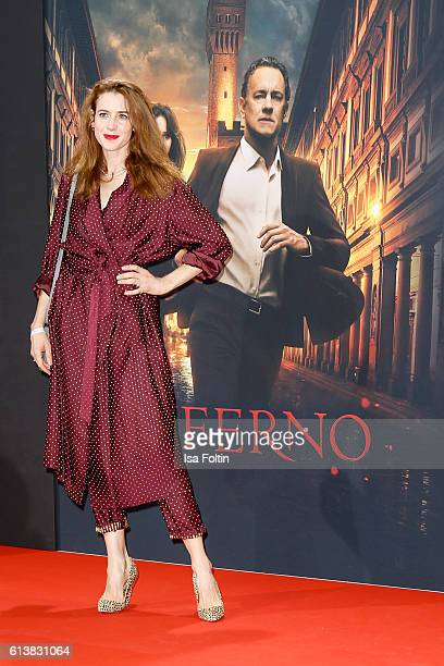 German actress Julia Malik attends the German premiere of the film 'INFERNO' at Sony Centre on October 10 2016 in Berlin Germany