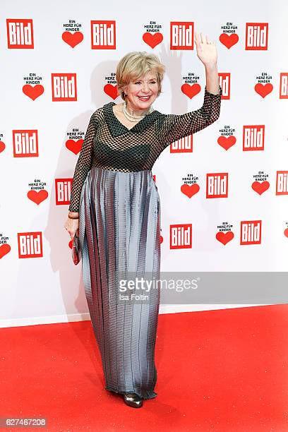 German actress Jutta Speidel attends the Ein Herz Fuer Kinder gala on December 3 2016 in Berlin Germany