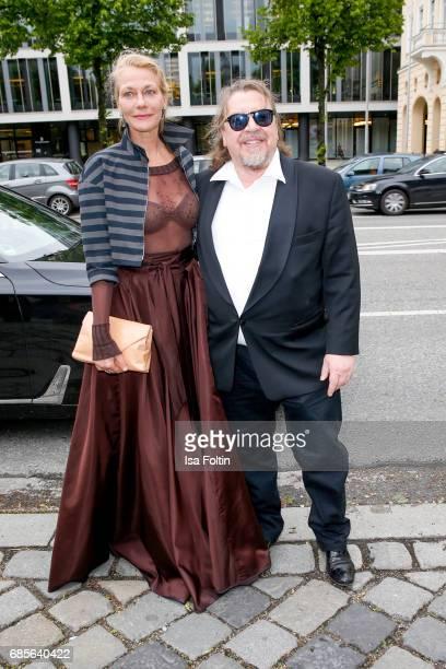 German actress Karen Boehne and german actor Armin Rohde attend the Bayerischer Fernsehpreis 2017 at Prinzregententheater on May 19 2017 in Munich...