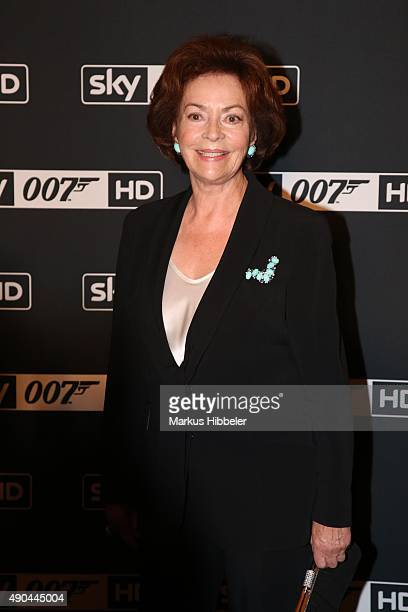 German actress Karin Dor attends the SKY 007 HD event at Hotel Atlantic on September 28 2015 in Hamburg Germany