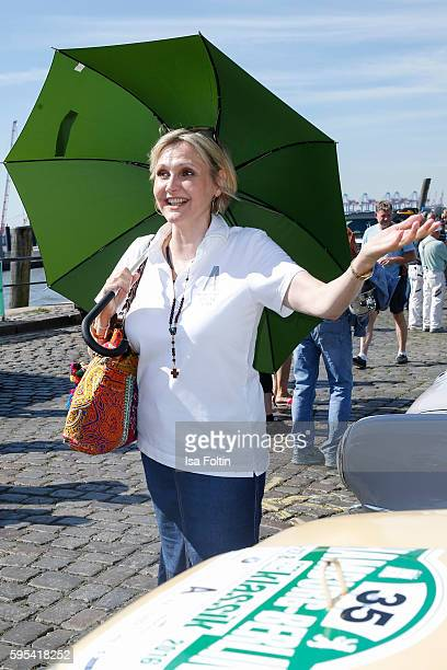 German actress Katharina Schubert attends the first day of the HamburgBerlin Klassik Rallye on August 25 2016 in Hamburg Germany